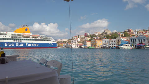Kastelorizo Island, Greece - October 4, 2019 : Life of the island in one autumn Live Action