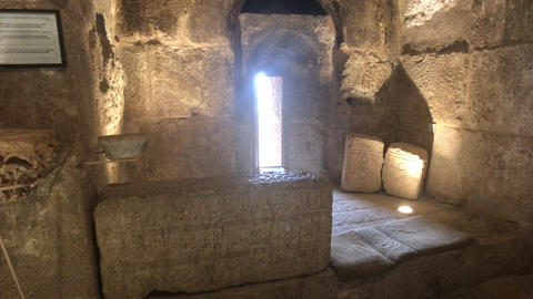 Ajloun, Jordan - stone rooms with illumination in the old castle part 4 Live Action