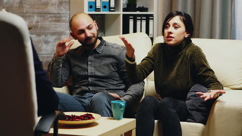 Young wife telling psychoanalyst about her relationship difficulties Live Action