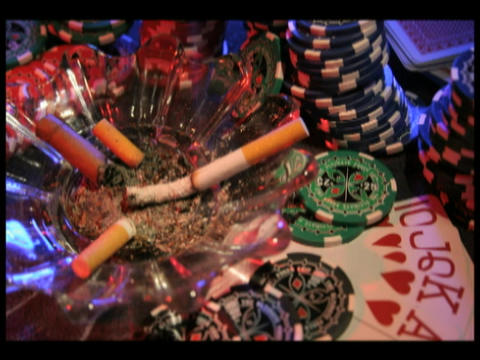 Time-lapse of a cigarette burning in an ashtray... Stock Video Footage