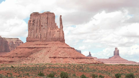 Time-lapse of clouds passing over Mitten Buttes in... Stock Video Footage