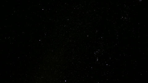 Stars sparkle in the darkness of the night sky Stock Video Footage