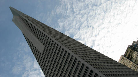 Thin white clouds stream above San Francisco's... Stock Video Footage