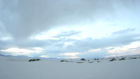 Time lapse shot clouds passing over White Sands National... Stock Video Footage
