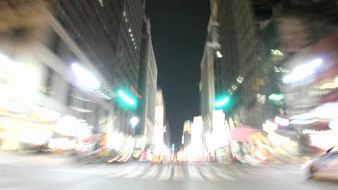 Traffic in a busy city Stock Video Footage