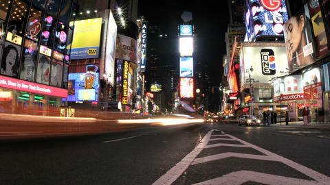 An accelerated view of New York's Times Square results in... Stock Video Footage