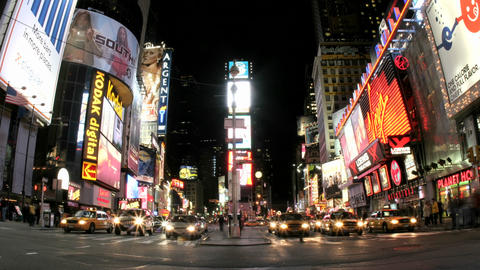 An accelerated shot of New York's Times Square results in... Stock Video Footage