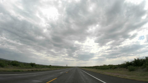Point of view accelerated shot of driving down a rural... Stock Video Footage