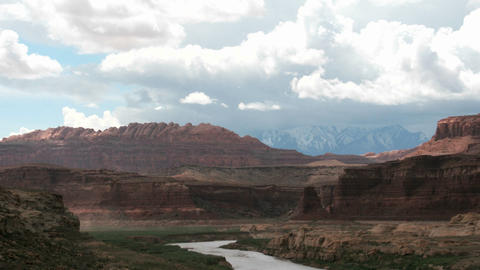 Storm clouds settle over the Colorado River in Glen Canyon National Recreation Area Footage