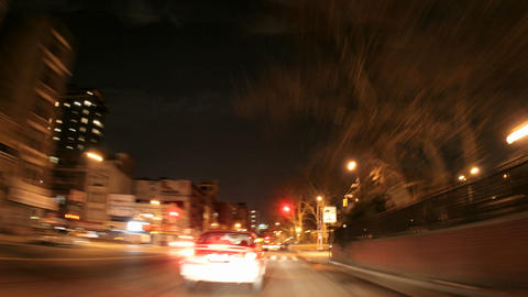 A time lapse shot through a busy downtown city street at... Stock Video Footage