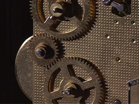 Gears turn in a watch Stock Video Footage