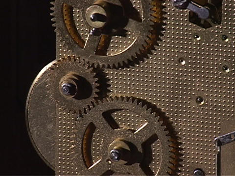 Gears turn in a watch Stock Video Footage