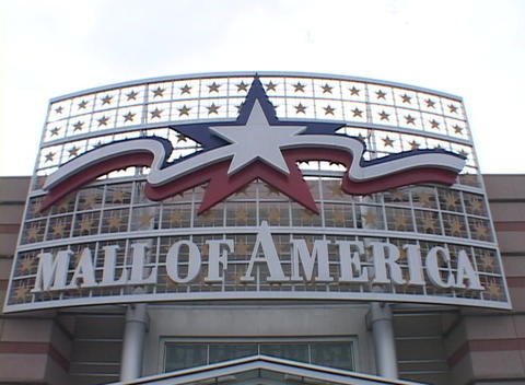 The marquee for the most visited mall in the world, Mall... Stock Video Footage