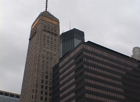 The Foshay Tower was the first skyscraper built west of... Stock Video Footage