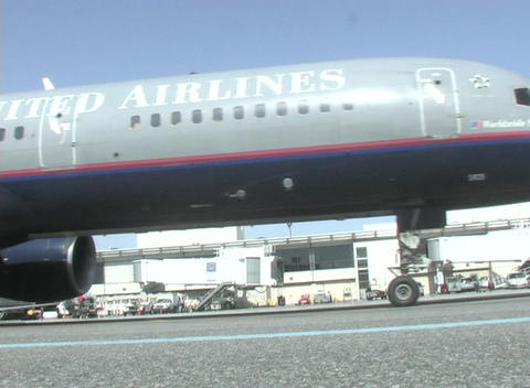 A plane taxis along the runway Stock Video Footage