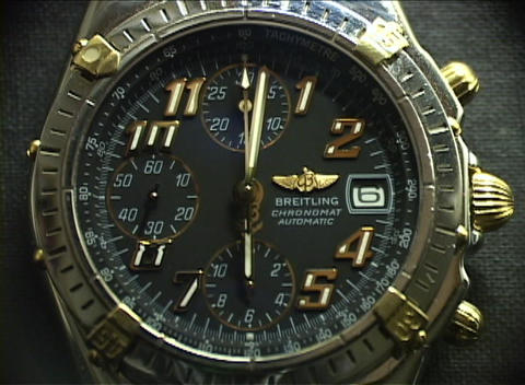 Close-up of an elegant gold, chrome and black... Stock Video Footage