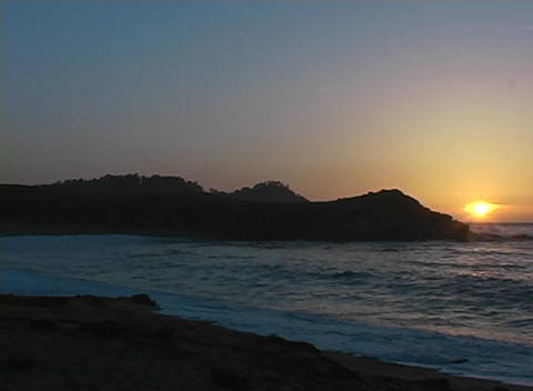 A beautiful ocean sunset Stock Video Footage