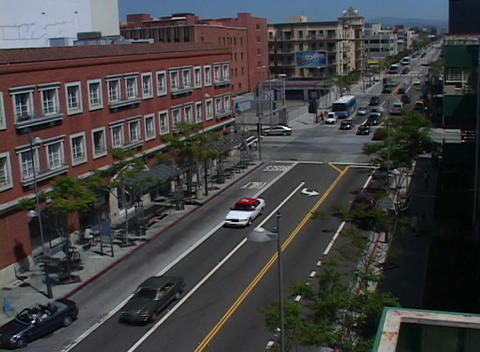 A time-lapse of traffic on a busy city street Stock Video Footage