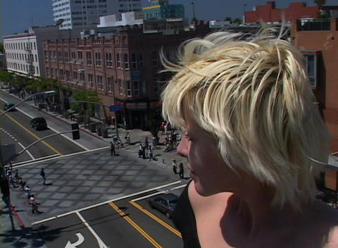 A time-lapse of a busy city intersection seen from the... Stock Video Footage