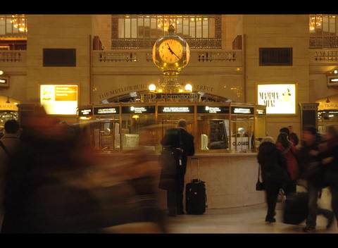 People purchase tickets, and mill around a train stations... Stock Video Footage