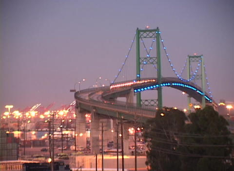 Time-lapse shot of traffic traveling over a bridge Stock Video Footage