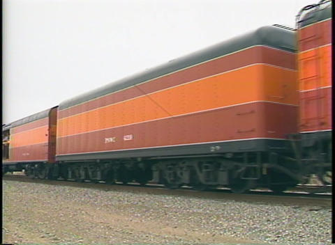 Medium shot of a Southern Pacific steam passenger train... Stock Video Footage