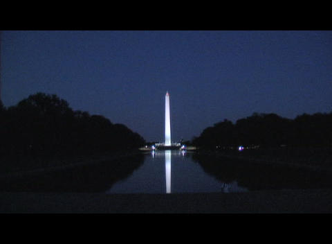 Long-shot of the Washington Monument in Washington, DC Stock Video Footage