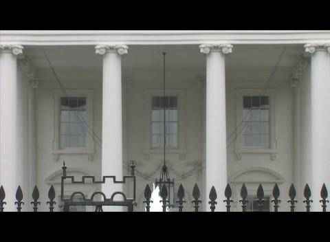 Medium-shot of the second floor of the White House from... Stock Video Footage