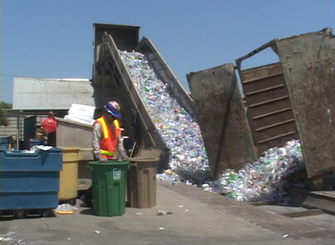 A conveyor belt moves thousands of plastic bottles at a... Stock Video Footage