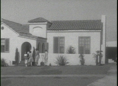 California home movie footage of families in the suburbs in 1920's Footage