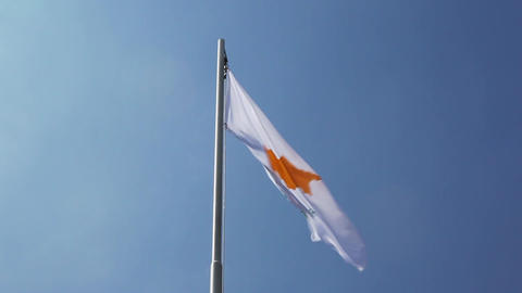 Textile flag of Cyprus Footage