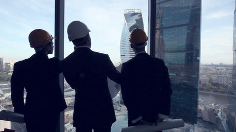Architects with construction project Footage