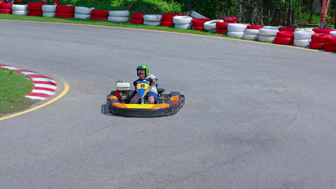 Tourists ride on karts. UltraHD 2160p 4k video Live Action