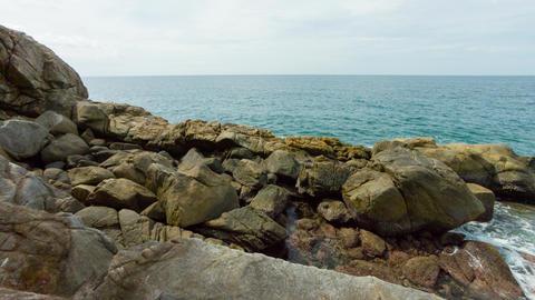 Phuket Island. Rocks on the seashore Footage