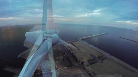 風を待つ港町素材 ビデオ