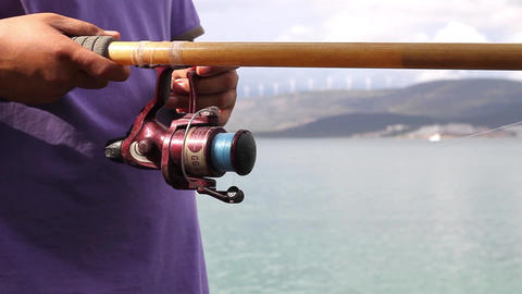 Man is fishing Live Action