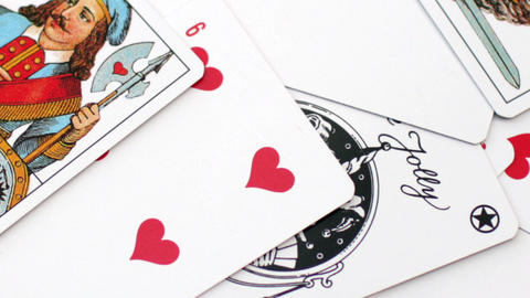 playing card on the table Footage