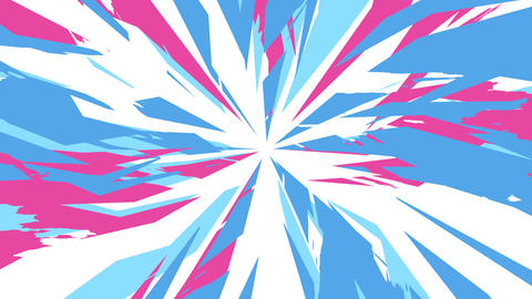 Dynamic Radial Background Blue Pink Animation