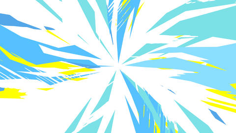 Dynamic Radial Background Blue Yellow CG動画
