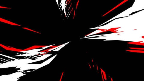 Dynamic Radial Background Alpha Red White Black CG動画
