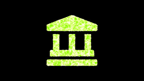 Symbol landmark shimmers in three colors: Purple, Green,… Stock Video Footage