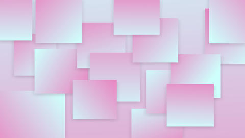 Delicate gradient background from squares with shadows Animation