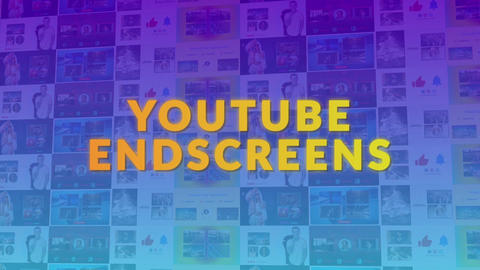 YouTube End Screens 2 Motion Graphics Template