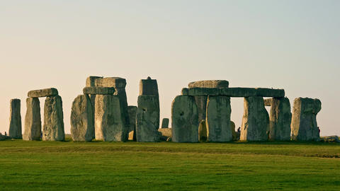 Famous Stonehenge in England Live Action