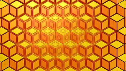 Rhombuses Form A Wave CG動画