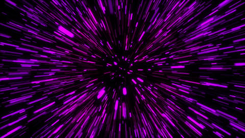 3d rendering hyper jump into another galaxy. Speed of light, neon glowing rays Live Action
