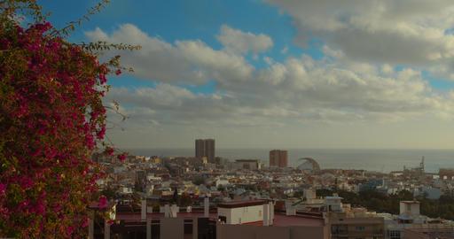 Timelapse. Santa Cruz de Tenerife: urban landscape in the middle of the Atlantic Live Action