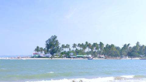 Myanmar coastline beach village Live Action