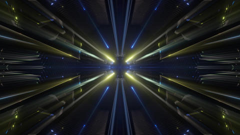 seamless looped 3D rendering animation of an fututistic kaleidoscope tunnel CG動画