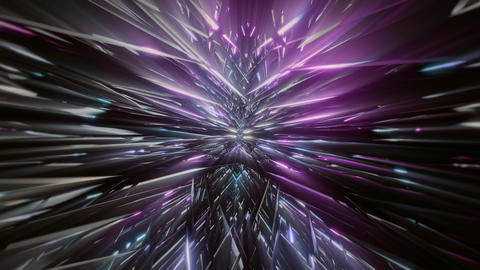 seamless looped 3D rendering animation of an abstract spiky tunnel Videos animados